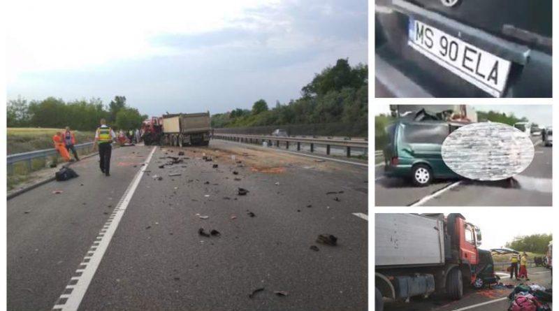 Românii morţi în accident în Ungaria erau din satele mureşene Deaj şi Agrişteu. Accidentul filmat LIVE