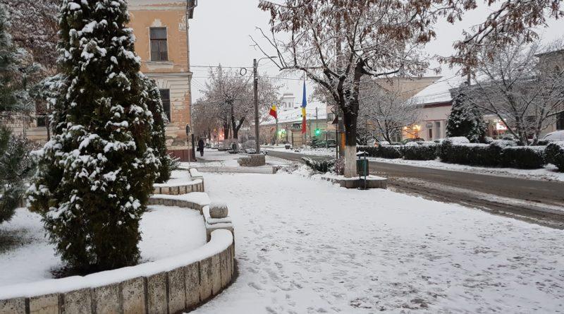 Prima zăpadă din această iarnă
