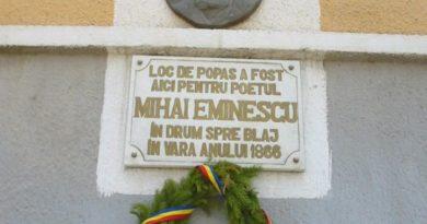 TÂRNĂVENI – locul unde Eminescu  şi-a exprimat pentru prima dată public dobândirea conştiinţei de poet!