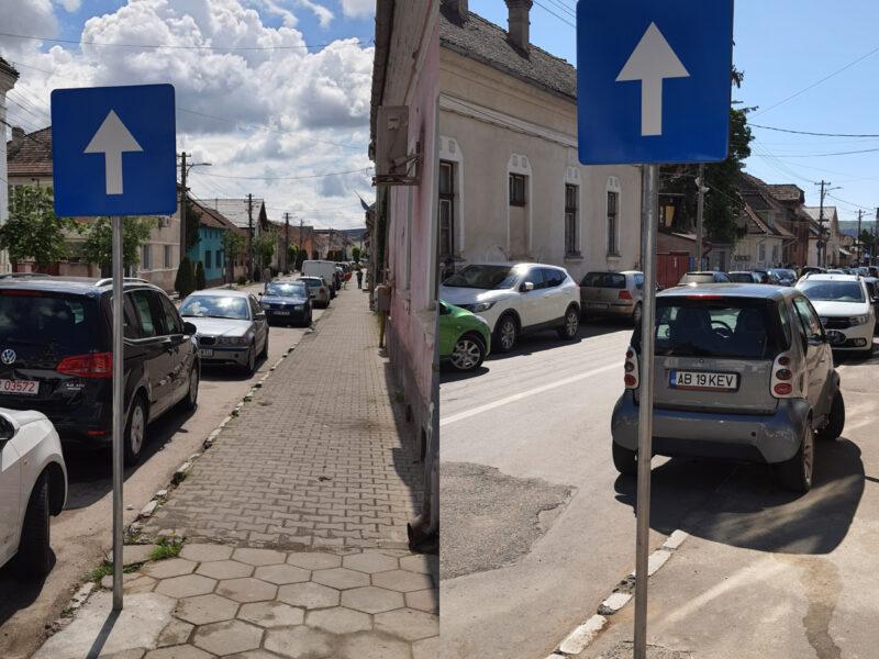 Atenție la semnele de circulație! Mai multe sensuri unice