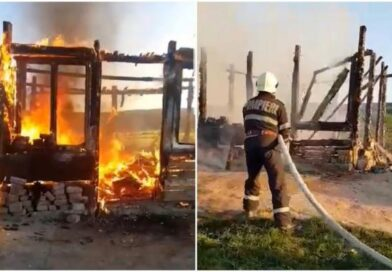 Un tată a patru copii din Adămuș a murit de cancer, apoi a ars şi s-a făcut scrum în sicriu, în camera de priveghi