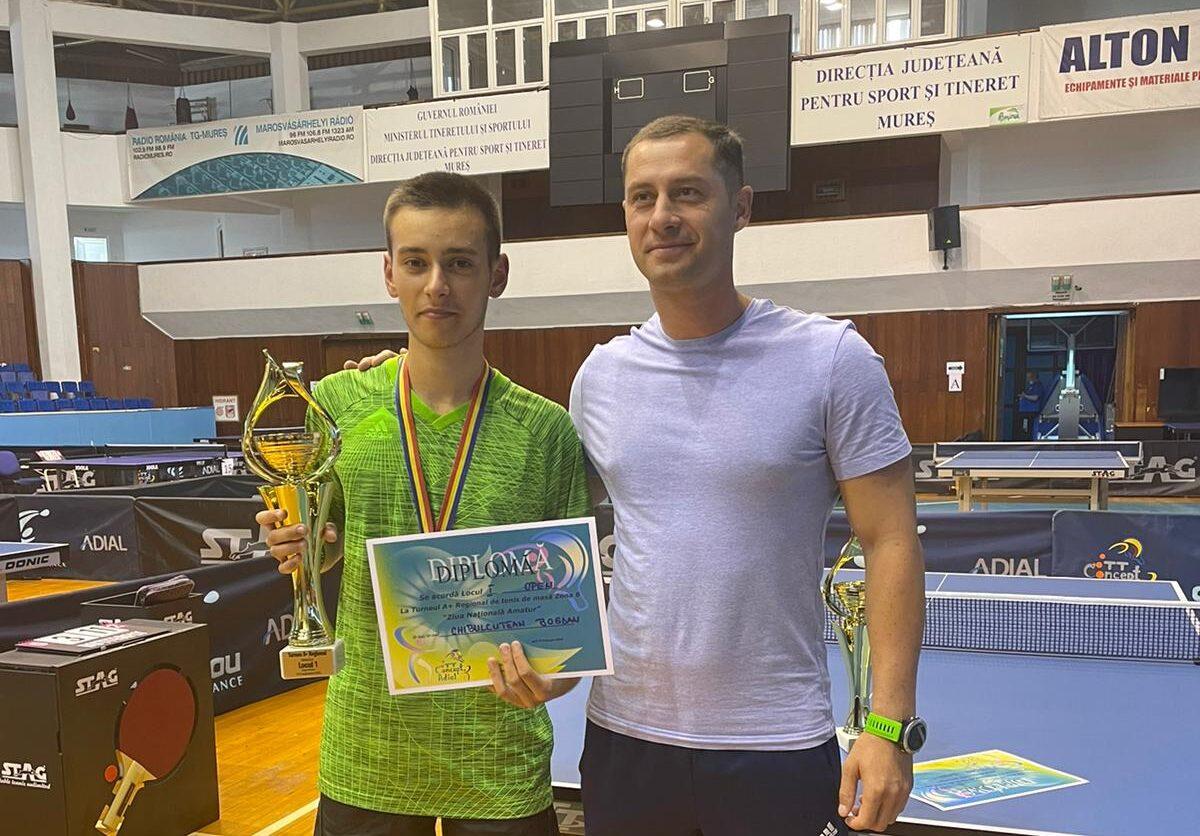 Chibulcutean Bogdan, locul 1 la tenis de masă